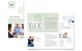 Accounting & Tax Services Tri Fold Brochure - Microsoft Office Template