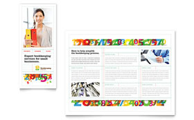 Bookkeeping Services Brochure - Word Template & Publisher Template