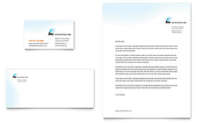 Accounting Firm Business Card & Letterhead - Microsoft Office Template