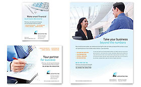 Accounting Firm Flyer & Ad - Microsoft Office Template