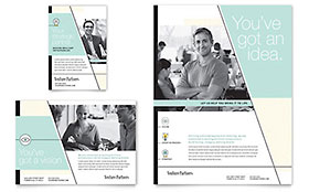 Venture Capital Firm Ad - Word Template & Publisher Template