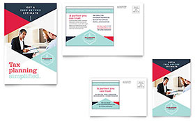 Tax Preparer Postcard - Word Template & Publisher Template