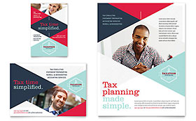 Tax Preparer Flyer & Ad - Word Template & Publisher Template