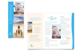 Beauty Spa Brochure - Word Template & Publisher Template
