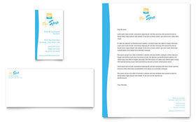Beauty Spa Business Card & Letterhead - Word & Publisher Template