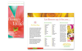 Florist Shop Brochure - Word Template & Publisher Template