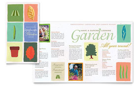 Garden & Landscape Design Brochure - Word Template & Publisher Template