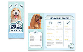 Pet Grooming Service Brochure - Word Template & Publisher Template