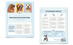 Pet Grooming Service Datasheet - Word Template & Publisher Template