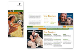 Veterinarian Clinic Brochure - Word Template & Publisher Template