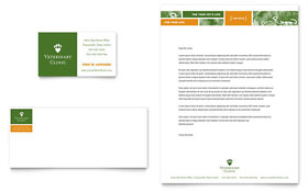Veterinarian Clinic Letterhead - Word Template & Publisher Template