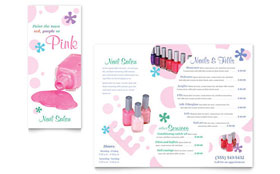 Nail Salon Brochure - Microsoft Office Template