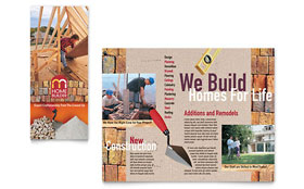 Home Builder & Contractor Brochure - Word Template & Publisher Template