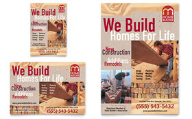 Home Builder & Contractor Flyer & Ad - Microsoft Office Template