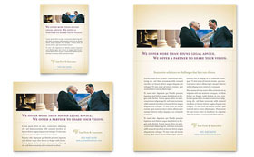 Attorney & Legal Services Flyer & Ad - Word Template & Publisher Template