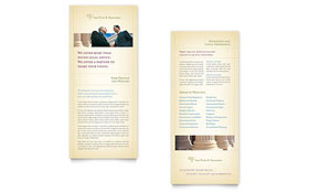 Attorney & Legal Services Rack Card - Word Template & Publisher Template