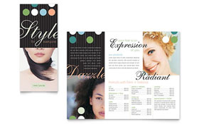Beauty & Hair Salon Brochure - Word Template & Publisher Template