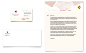 Employment Agency & Jobs Fair - Business Card & Letterhead Template