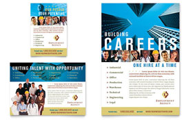 Employment Agency & Jobs Fair Ad - Word Template & Publisher Template