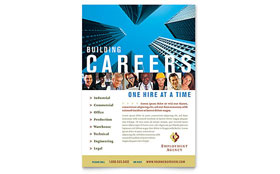 Employment Agency & Jobs Fair - Flyer Template