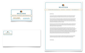 Real Estate Agent Letterhead - Word Template & Publisher Template