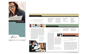 Bookkeeping & Accounting Services Tri Fold Brochure - Microsoft Office Template