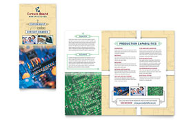 Circuit Board Manufacturer Brochure - Word Template & Publisher Template