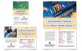 Circuit Board Manufacturer - Flyer & Ad Template