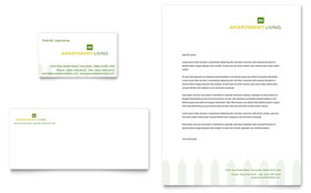 Apartment Living Letterhead Template