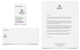 Realty Services Letterhead - Word Template & Publisher Template