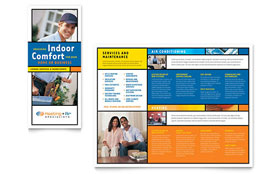Heating & Air Conditioning Brochure - Word Template & Publisher Template