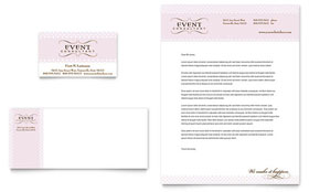 Wedding & Event Planning - Business Card & Letterhead Template