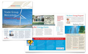 Utility & Energy Company Newsletter - Word Template & Publisher Template
