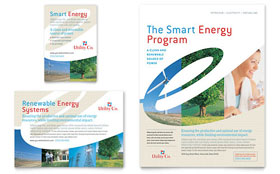 Utility & Energy Company Flyer & Ad - Word & Publisher Template