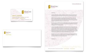 Skin Care Clinic Business Card & Letterhead - Word & Publisher Template