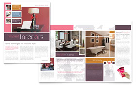 Interior Designer Newsletter - Word Template & Publisher Template