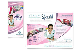 House Cleaning & Maid Services Brochure - Word & Publisher Template