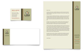 Lawyer & Law Firm Letterhead - Word Template & Publisher Template