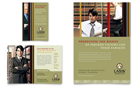 Lawyer & Law Firm Ad - Word Template & Publisher Template