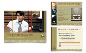Lawyer & Law Firm PowerPoint Presentation - PowerPoint Template