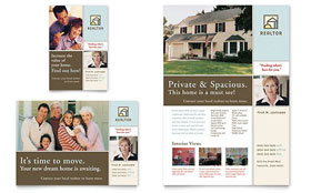 House for Sale Real Estate Flyer - Word Template & Publisher Template