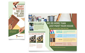 Painter & Painting Contractor Brochure - Word Template & Publisher Template