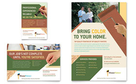 Painter & Painting Contractor Flyer & Ad - Word Template & Publisher Template