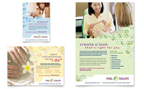 Nail Salon Flyer & Ad - Word Template & Publisher Template