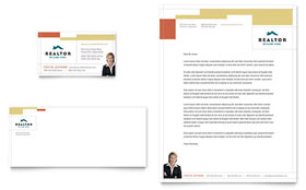 Realtor & Real Estate Agency Letterhead - Word Template & Publisher Template