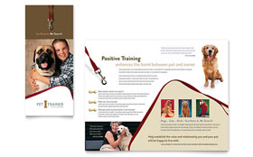 Pet Training & Dog Walking Brochure - Word Template & Publisher Template
