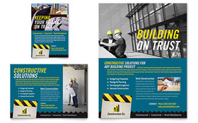 Industrial & Commercial Construction Flyer & Ad - Word Template & Publisher Template