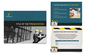 Industrial & Commercial Construction Presentation - Microsoft PowerPoint Template