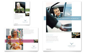 Limousine Service Flyer & Ad - Word Template & Publisher Template