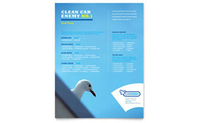 Car Cleaning Flyer - Word Template & Publisher Template